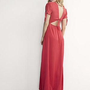 Karlie Kloss Express Dress Solid Maxi Dress 0
